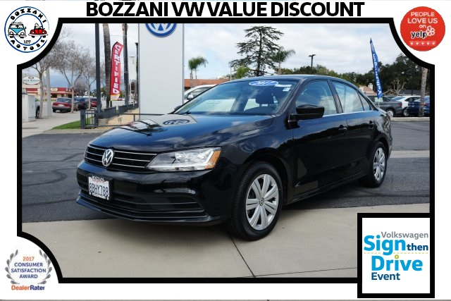 pre-owned 2017 volkswagen jetta 1.4t s 4d sedan in covina #p3410