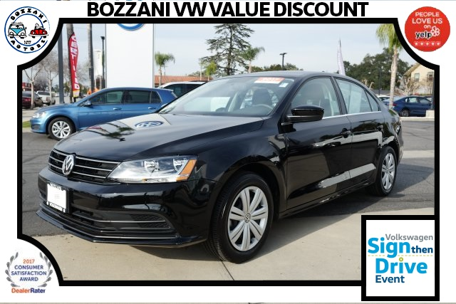 certified pre-owned 2017 volkswagen jetta 1.4t s 4d sedan in covina